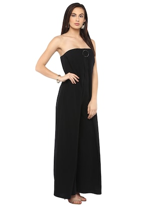 black full leg jumpsuit - 14876096 - Standard Image - 2
