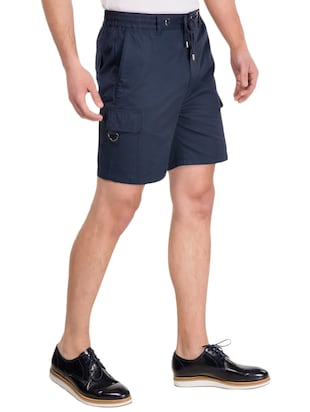 navy blue cotton shorts - 14883286 - Standard Image - 2
