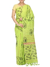 white cotton woven saree with blouse -  online shopping for Sarees