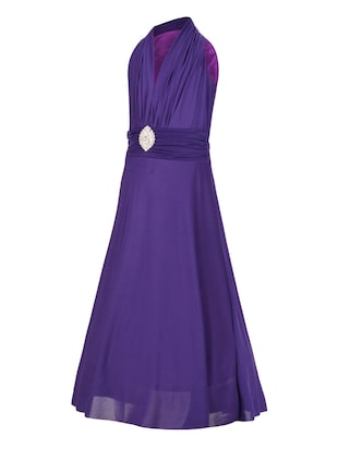 purple net party gown - 14885067 - Standard Image - 2
