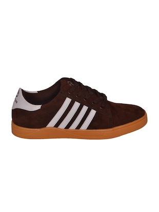 brown Suede lace up sneaker - 14885086 - Standard Image - 2