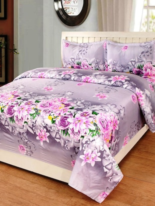 3D PolyCotton Double Bed Sheet with 2 Pillow Covers - 14886719 - Standard Image - 2