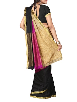 multi cotton woven saree with blouse - 14887236 - Standard Image - 2