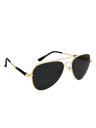 Amour Propre Black New Era Aviator Sunglass For Unisex - 14887414 - Standard Image - 2