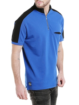 blue cotton pocket t-shirt - 14887434 - Standard Image - 2