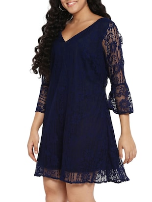 floral lace plus dress - 14888010 - Standard Image - 2