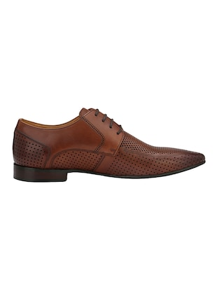 tan Leather formal derby - 14888390 - Standard Image - 2