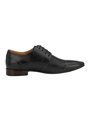 black Leather lace-up derby - 14888393 - Standard Image - 2