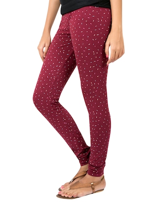 Purple printed leggings - 14888435 - Standard Image - 2