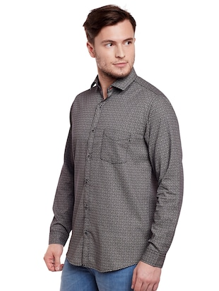 grey cotton casual shirt - 14888557 - Standard Image - 2