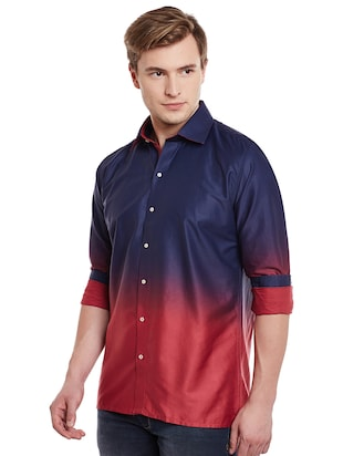 blue cotton casual shirt - 14888593 - Standard Image - 2