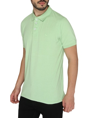 green cotton  t-shirt - 14888965 - Standard Image - 2