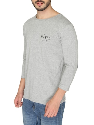 grey cotton back print t-shirt - 14888967 - Standard Image - 2