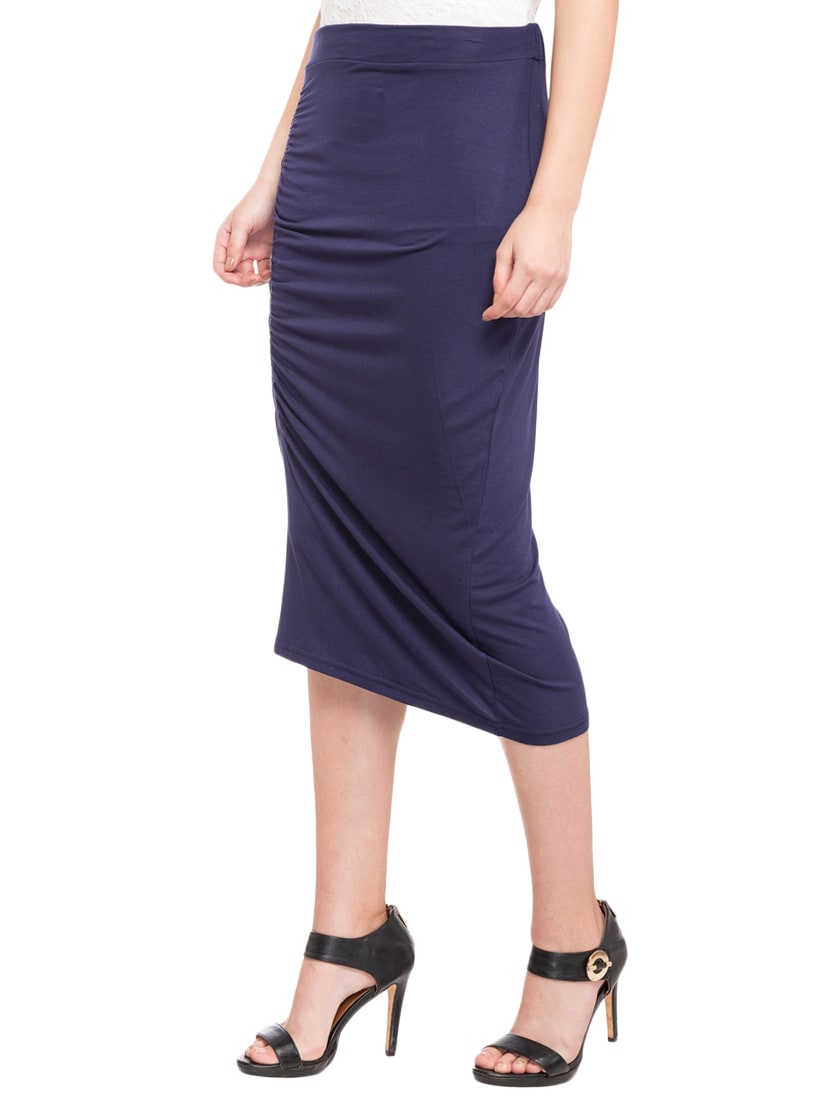 4fdc77edfa Buy Navy Blue Pencil Skirts for Women from Globus for ₹330 at 70 ...