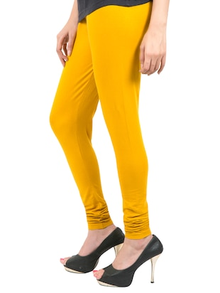 yellow solid leggings - 14889521 - Standard Image - 2