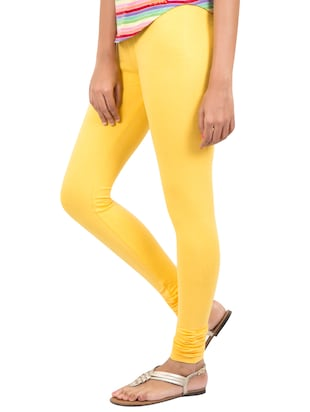 yellow solid leggings - 14889522 - Standard Image - 2