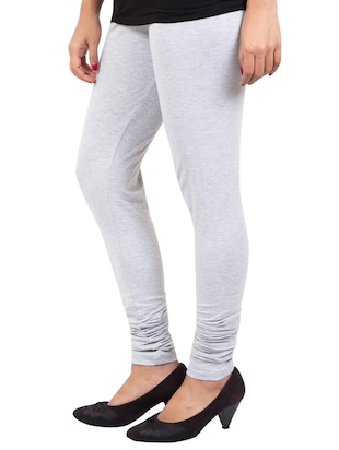 grey solid leggings - 14889533 - Standard Image - 2