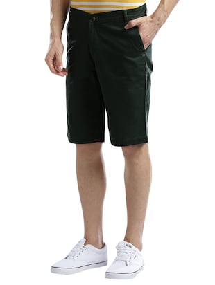green cotton shorts - 14890547 - Standard Image - 2