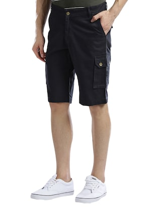 navy blue cotton shorts - 14890610 - Standard Image - 2