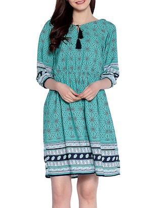 green  fit & flare dress - 14891668 - Standard Image - 2