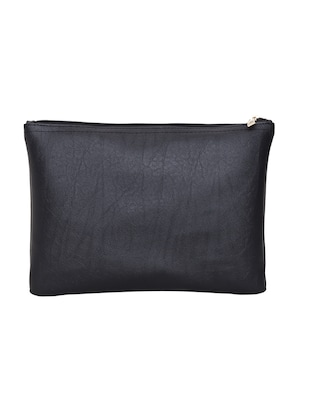 black leatherette  regular pouch - 14893314 - Standard Image - 2