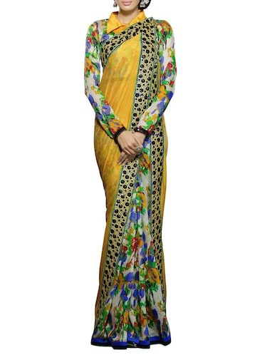 Buy Mustard Yellow Pure Silk Saree for Women from Pothys for