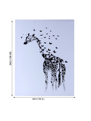 Scattered Butterfly Cum Giraffe Canvas Painting - 14893940 - Standard Image - 2