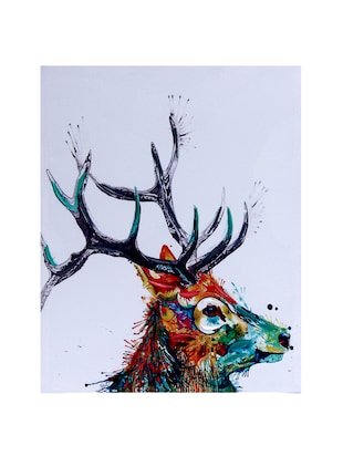 Sharp Horn Stag Canvas Painting - 14893943 - Standard Image - 2