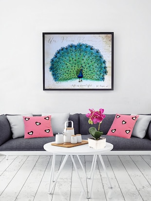 Dancing Peacock Canvas Painting