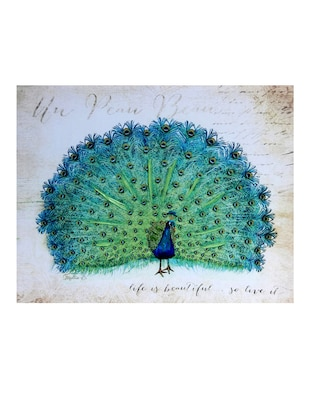 Dancing Peacock Canvas Painting - 14893950 - Standard Image - 2