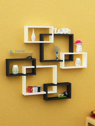 Buy Decornation Wall Shelf Set Of Six Cube Rectangle Designer Wall ...