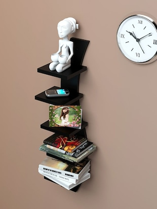 Mdf Floating Wall Shelf Rack Curve Shape 5 Tier - 14894247 - Standard Image - 2