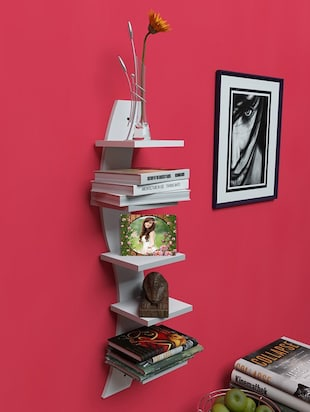 Mdf Floating Wall Shelf Rack Curve Shape 5 Tier - 14894251 - Standard Image - 2