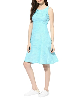 light blue cotton aline dress - 14894717 - Standard Image - 2