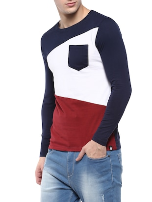 multi colored cotton pocket t-shirt - 14895024 - Standard Image - 2