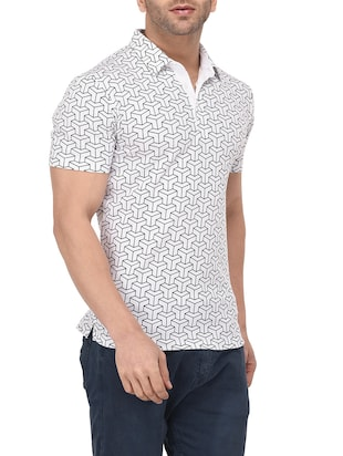 white cotton all over print t-shirt - 14895197 - Standard Image - 2