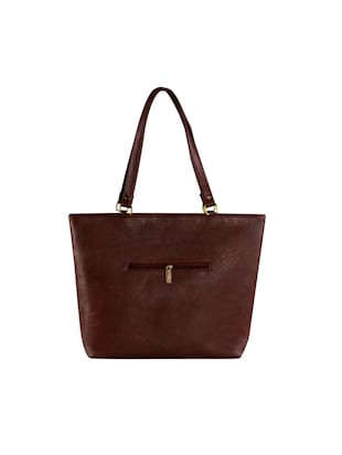 brown leatherette  regular handbag - 14895971 - Standard Image - 2