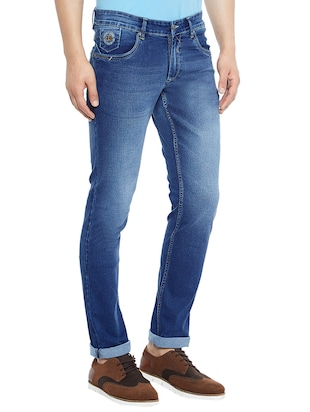 blue denim washed jeans - 14896159 - Standard Image - 2