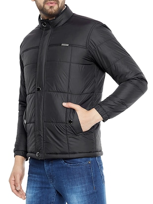 black polyester quilted jacket - 14896184 - Standard Image - 2
