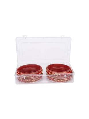 red glass bangle - 14896346 - Standard Image - 2