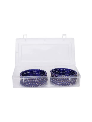 blue glass bangle - 14896351 - Standard Image - 2