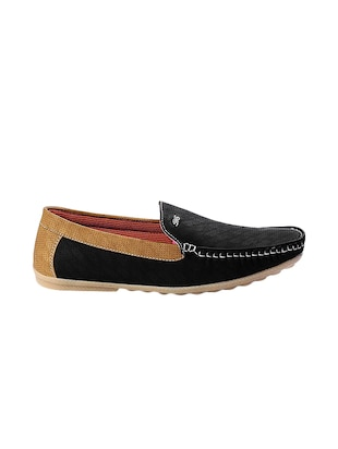 black leatherette slip on loafer - 14897560 - Standard Image - 2