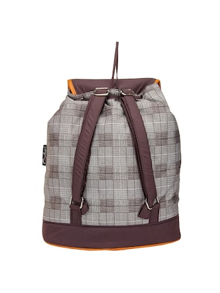 brown  leatherette backpack - 14898486 - Standard Image - 2