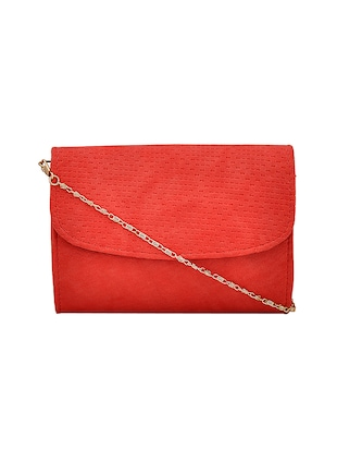 red leatherette handbag - 14898749 - Standard Image - 5