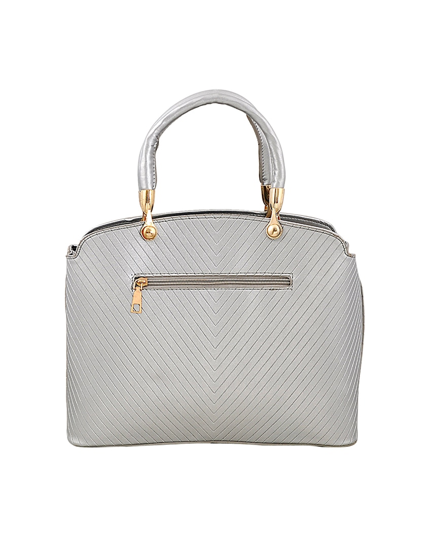 Silver Leatherette Handbag 14898757 Zoom Image 2