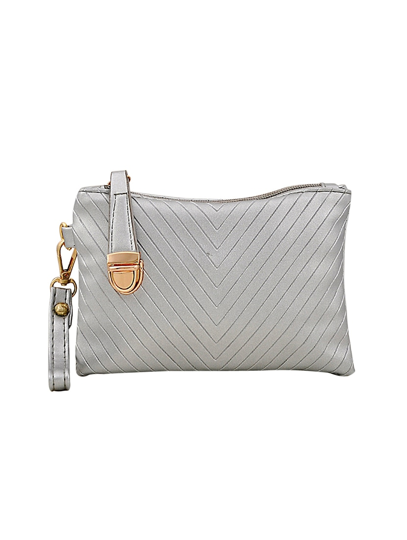 Silver Leatherette Handbag 14898757 Zoom Image 5