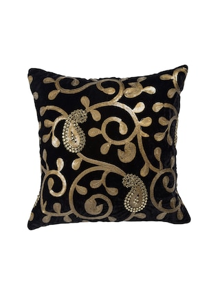 Black Set of 5 Cushion Covers - 14898867 - Standard Image - 2