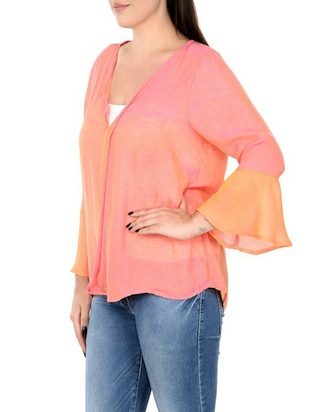 pink pure silk plus top - 14898939 - Standard Image - 2