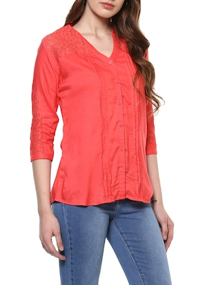 solid red top - 14900638 - Standard Image - 2