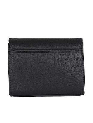 black leatherette sling bag - 14900744 - Standard Image - 2